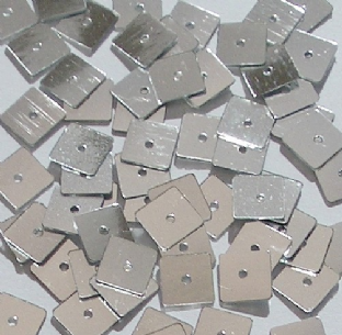 7mm Metallic Silver Square Sequins x 600.